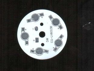 চীন Round Ultra Bright Led SMD Aluminium PCB With Diameter 80mm 10W সরবরাহকারী